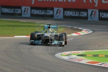 World © Octane Photographic Ltd. F1 Italian GP - Monza, Friday 6th September 2013 - Practice 1. Mercedes AMG Petronas F1 W04 - Nico Rosberg. Digital Ref : 0811lw1d1475