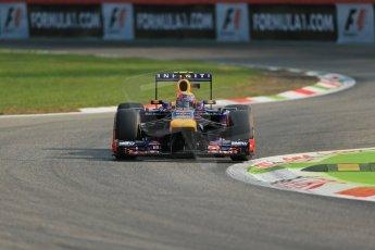 World © Octane Photographic Ltd. F1 Italian GP - Monza, Friday 6th September 2013 - Practice 1. Infiniti Red Bull Racing RB9 - Mark Webber. Digital Ref : 0811lw1d1484