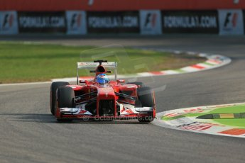 World © Octane Photographic Ltd. F1 Italian GP - Monza, Friday 6th September 2013 - Practice 1. Scuderia Ferrari F138 - Fernando Alonso. Digital Ref : 0811lw1d1507