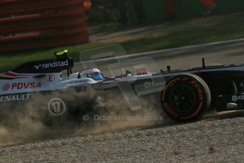 World © Octane Photographic Ltd. F1 Italian GP - Monza, Friday 6th September 2013 - Practice 1. Williams FW35 - Valtteri Bottas. Digital Ref : 0811lw1d2529