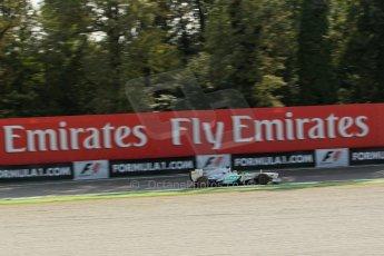 World © Octane Photographic Ltd. F1 Italian GP - Monza, Friday 6th September 2013 - Practice 1. Mercedes AMG Petronas F1 W04 - Nico Rosberg. Digital Ref : 0811lw1d42126