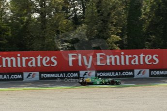 World © Octane Photographic Ltd. F1 Italian GP - Monza, Friday 6th September 2013 - Practice 1. Caterham F1 Team CT03 - Charles Pic. Digital Ref : 0811lw1d42141