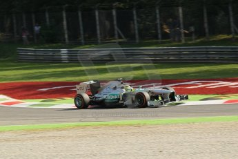 World © Octane Photographic Ltd. F1 Italian GP - Monza, Friday 6th September 2013 - Practice 1. Mercedes AMG Petronas F1 W04 - Nico Rosberg. Digital Ref : 0811lw1d42252