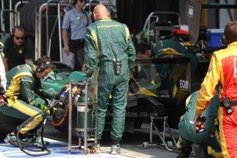 World © Octane Photographic Ltd. GP2 Italian GP, Monza, Friday 6th September 2013. Practice. EQ8 Caterham Racing tyre change. Digital Ref : 0812cb7d5276