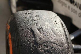 World © Octane Photographic Ltd. GP2 Italian GP, Monza, Saturday 7th September 2013. Race 1. Worn Pirelli tyres after the race. Digital Ref :