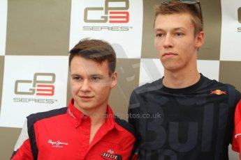World © Octane Photographic Ltd. GP3 Italian GP - Qualifying, Monza, Saturday 7th September 2013. Dallara GP3/13. MW Arden – Daniil Kvyat (Pole Position) and Robert Visolu (2nd). Digital ref : 0816cb7d5744