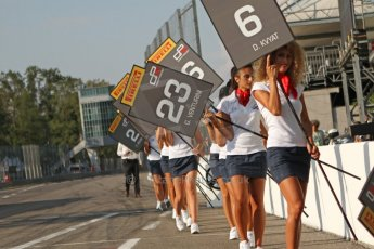 World © Octane Photographic Ltd. GP3 Italian GP - Race 1, Monza, Saturday 7th September 2013 - The GP3 grid grid leave the grid. Digital ref :