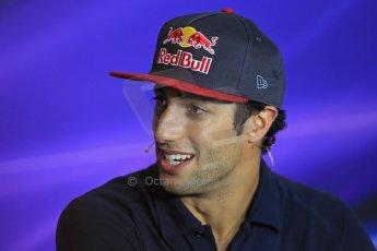 World © Octane Photographic Ltd. F1 Italian GP - Monza, Thursday 5th September 2013 - FIA Press Conference. Scuderia Toro Rosso STR 8 - Daniel Ricciardo. Digital Ref : 0809lw1d1088