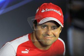 World © Octane Photographic Ltd. F1 Italian GP - Monza, Thursday 5th September 2013 - FIA Press Conference. Scuderia Ferrari F138 - Felipe Massa. Digital Ref : 0809lw1d1091