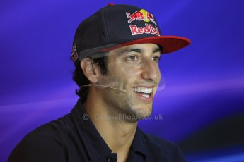 World © Octane Photographic Ltd. F1 Italian GP - Monza, Thursday 5th September 2013 - FIA Press Conference. Scuderia Toro Rosso STR 8 - Daniel Ricciardo. Digital Ref : 0809lw1d1106