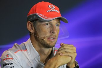 World © Octane Photographic Ltd. F1 Italian GP - Monza, Thursday 5th September 2013 - FIA Press Conference. Vodafone McLaren Mercedes MP4/28 - Jenson Button. Digital Ref : 0809lw1d1317