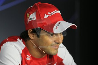 World © Octane Photographic Ltd. F1 Italian GP - Monza, Thursday 5th September 2013 - FIA Press Conference. Scuderia Ferrari F138 - Felipe Massa. Digital Ref : 0809lw1d1360