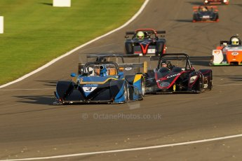 World © Octane Photographic Ltd. BRSCC - OSS Championship. Saturday 14th September 2013. Donington Park. Saturday 14th September 2013 – Race 1. Race Start lead by Tony Sinclair – Jade 3 V6. Digital Ref: 0827cj1d7163