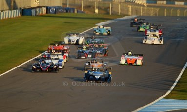 World © Octane Photographic Ltd. BRSCC - OSS Championship. Saturday 14th September 2013. Donington Park. Saturday 14th September 2013 – Race 1. Race start lead by Tony Sinclair – Jade 3 V6. Digital Ref: 0827cj1d7412
