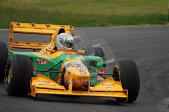 World © Octane Photographic Ltd/ Carl Jones. OSS F1 Demos. Snetterton. Benetton B193b ex-Ricardo Patresse and Michael Schumacher. Digital Ref: 0719cj7d0174