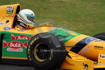 World © Octane Photographic Ltd/ Carl Jones. OSS F1 Demos. Snetterton. Benetton B193b ex-Ricardo Patresse and Michael Schumacher. Digital Ref: 0719cj7d0177