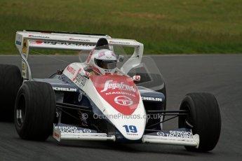 World © Octane Photographic Ltd/ Carl Jones. OSS F1 Demos. Snetterton. Alastair Davison's Toleman TG184, ex Ayrton Senna. Digital Ref: 0719cj7d0185