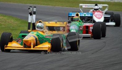 World © Octane Photographic Ltd/ Carl Jones. OSS F1 Demos. Snetterton. Benetton B193b ex-Ricardo Patresse and Michael Schumacher. Digital Ref: 0719cj7d0207
