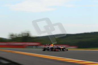 World © Octane Photographic Ltd. F1 Belgian GP - Spa - Francorchamps. Friday 23rd August 2013. Practice 1. Infiniti Red Bull Racing RB9 - Mark Webber. Digital Ref : 0784lw1d4799