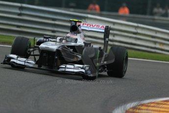 World © Octane Photographic Ltd. F1 Belgian GP - Spa - Francorchamps. Friday 23rd August 2013. Practice 1. Williams FW35 - Valtteri Bottas. Digital Ref : 0784lw1d7202