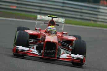 World © Octane Photographic Ltd. F1 Belgian GP - Spa - Francorchamps. Friday 23rd August 2013. Practice 1. Scuderia Ferrari F138 - Felipe Massa. Digital Ref : 0784lw1d7228
