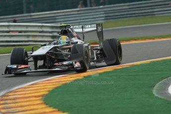 World © Octane Photographic Ltd. F1 Belgian GP - Spa - Francorchamps. Friday 23rd August 2013. Practice 1. Sauber C32 - Esteban Gutierrez. Digital Ref : 0784lw1d7360