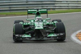 World © Octane Photographic Ltd. F1 Belgian GP - Spa - Francorchamps. Friday 23rd August 2013. Practice 1. Caterham F1 Team CT03 – Heikki Kovalainen. Digital Ref : 0784lw1d7395