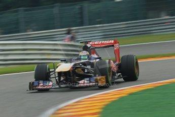 World © Octane Photographic Ltd. F1 Belgian GP - Spa - Francorchamps. Friday 23rd August 2013. Practice 1. Scuderia Toro Rosso STR8 - Jean-Eric Vergne. Digital Ref : 0784lw1d7440