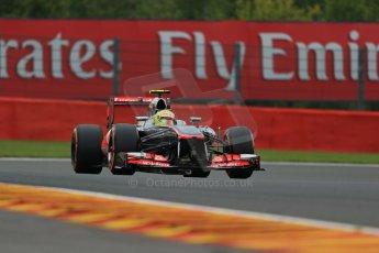 World © Octane Photographic Ltd. F1 Belgian GP - Spa - Francorchamps. Friday 23rd August 2013. Practice 1. Vodafone McLaren Mercedes MP4/28 - Sergio Perez . Digital Ref : 0784lw1d7491