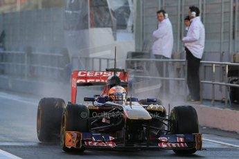 World © Octane Photographic Ltd. Formula 1 Winter testing, Barcelona – Circuit de Catalunya, 28th February 2013. Toro Rosso STR8, Jean-Eric Vergne. Digital Ref: 0581lw1d6779