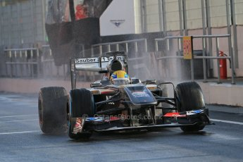 World © Octane Photographic Ltd. Formula 1 Winter testing, Barcelona – Circuit de Catalunya, 28th February 2013. Sauber C32, Esteban Gutierrez. Digital Ref: 0581lw1d6914