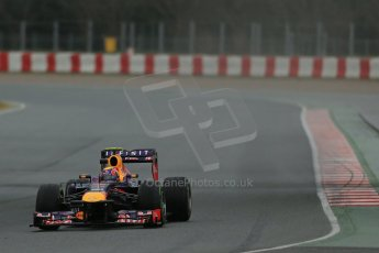 World © Octane Photographic Ltd. Formula 1 Winter testing, Barcelona – Circuit de Catalunya, 28th February 2013. Infiniti Red Bull Racing RB9. Mark Webber. Digital Ref: