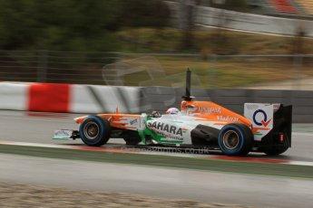 World © Octane Photographic Ltd. Formula 1 Winter testing, Barcelona – Circuit de Catalunya, 28th February 2013. Sahara Force India VJM06 –  Paul di Resta. Digital Ref:
