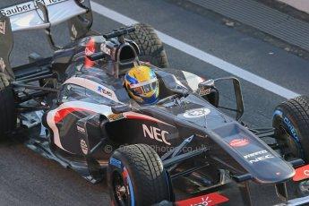 World © Octane Photographic Ltd. Formula 1 Winter testing, Barcelona – Circuit de Catalunya, 2nd March 2013. Sauber C32, Esteban Gutierrez. Digital Ref: 0583lw1d8787
