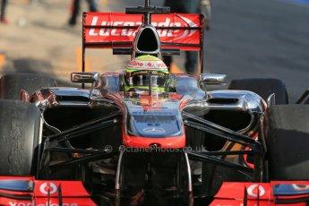 World © Octane Photographic Ltd. Formula 1 Winter testing, Barcelona – Circuit de Catalunya, 2nd March 2013. Vodafone McLaren Mercedes MP4/28. Sergio Perez. Digital Ref: 0583lw1d9008