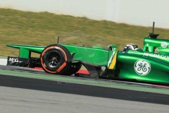World © Octane Photographic Ltd. Formula 1 Winter testing, Barcelona – Circuit de Catalunya, 2nd March 2013. Caterham CT03, Giedo van der Garde. Digital Ref: 0583lw1d9167