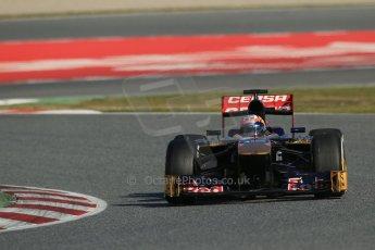 World © Octane Photographic Ltd. Formula 1 Winter testing, Barcelona – Circuit de Catalunya, 2nd March 2013. Toro Rosso STR8, Jean-Eric Vergne. Digital Ref: 0583lw1d9389