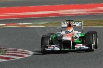 World © Octane Photographic Ltd. Formula 1 Winter testing, Barcelona – Circuit de Catalunya, 2nd March 2013. Sahara Force India VJM06 – Adrian Sutil. Digital Ref: 0583lw1d9414