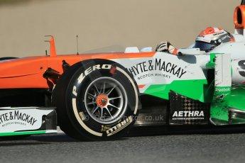 World © Octane Photographic Ltd. Formula 1 Winter testing, Barcelona – Circuit de Catalunya, 2nd March 2013. Sahara Force India VJM06 – Adrian Sutil. Digital Ref: 0583lw1d9453