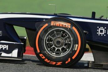 World © Octane Photographic Ltd. Formula 1 Winter testing, Barcelona – Circuit de Catalunya, 2nd March 2013., afternoon session Williams FW35 showing the vented front hub design, Valtteri Bottas. Digital Ref: 0583lw1d9573