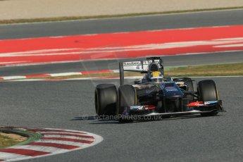 World © Octane Photographic Ltd. Formula 1 Winter testing, Barcelona – Circuit de Catalunya, 2nd March 2013. Sauber C32, Esteban Gutierrez. Digital Ref: 0583lw1d9624