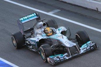 World © Octane Photographic Ltd. Formula 1 Winter testing, Barcelona – Circuit de Catalunya, 2nd March 2013. Mercedes AMG Petronas  F1 W04 – Lewis Hamilton. Digital Ref: 0583lw7d0516