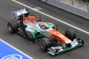 World © Octane Photographic Ltd. Formula 1 Winter testing, Barcelona – Circuit de Catalunya, 2nd March 2013. Sahara Force India VJM06 – Adrian Sutil. Digital Ref: 0583lw7d0583