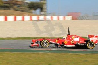 World © Octane Photographic Ltd. Formula 1 Winter testing, Barcelona – Circuit de Catalunya, 2nd March 2013. Ferrari F138 – Felipe Massa. Digital Ref: 0583lw7d0944