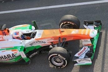 World © Octane Photographic Ltd. Formula 1 Winter testing, Barcelona – Circuit de Catalunya, 3rd March 2013. Sahara Force India VJM06 – Paul di Resta. Digital Ref: 0584lw1d0145