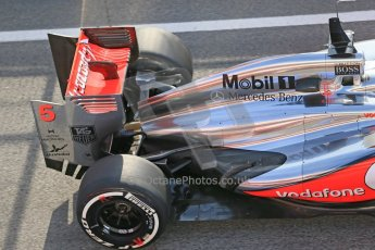 World © Octane Photographic Ltd. Formula 1 Winter testing, Barcelona – Circuit de Catalunya, 3rd March 2013. Vodafone McLaren Mercedes MP4/28. Jenson Button. Digital Ref: 0584lw1d0419