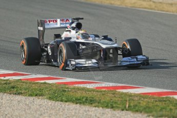 World © Octane Photographic Ltd. Formula 1 Winter testing, Barcelona – Circuit de Catalunya, 3rd March 2013. Williams FW35, Pastor Maldonado, morning session. Digital Ref: 0584lw1d0429