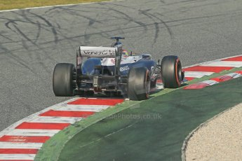 World © Octane Photographic Ltd. Formula 1 Winter testing, Barcelona – Circuit de Catalunya, 3rd March 2013. Williams FW35, Pastor Maldonado, morning session. Digital Ref: 0584lw1d0480