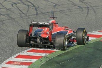 World © Octane Photographic Ltd. Formula 1 Winter testing, Barcelona – Circuit de Catalunya, 3rd March 2013. Marussia MR02, Jules Bianchi. Digital Ref: 0584lw1d0484