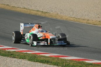 World © Octane Photographic Ltd. Formula 1 Winter testing, Barcelona – Circuit de Catalunya, 3rd March 2013. Sahara Force India VJM06 – Paul di Resta. Digital Ref: 0584lw1d0516